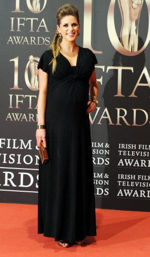 09/02/2013. IFTA's. Amy Huberman arrives at the Co