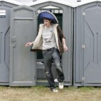 This guy, who had to use a portaloo (Mark Stedman/Photocall Ireland)
