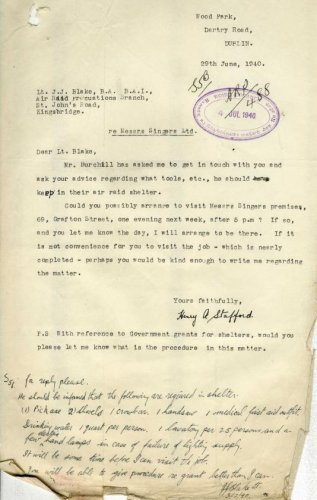 air raid letter