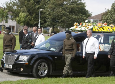 The funeral of Alan ryan in September 2012