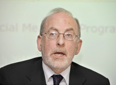 The Governor of the Central Bank, Professor Patrick Honohan (file photo)