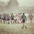Seapoint versus Bective - the game was called off after 40 minutes due to the snow. 
