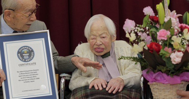The world's oldest woman has a 90-year-old son