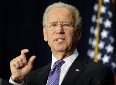Vice President Joe Biden gestures as he speaks at a gun violence conference in Danbury, Connecticut.