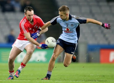 Cork's Paul Kerrigan in action against Dublin's Johnny Cooper.