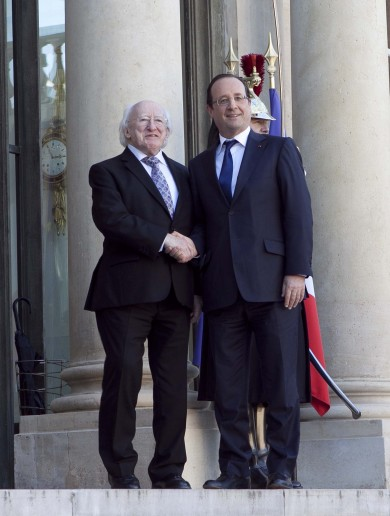 Hello Mr President, I'm the President: Michael D begins French visit