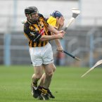 Kilkenny's Noel Hickey and Rory Jacob of Wexford get acquainted in 2007. (©INPHO/Morgan Treacy; )