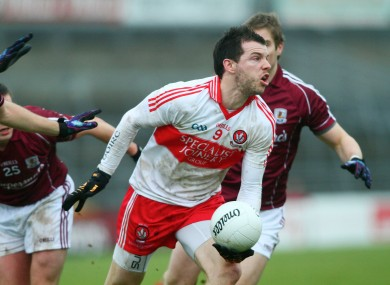 PJ McCloskey in action for Derry last weekend.