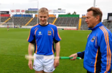 Former Tory minister Michael Portillo has a go at hurling at Semple Stadium