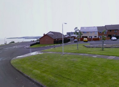 Britannia Crescent in Larne where PSNI officers are attending to another security alert.