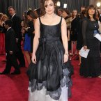 Helena Bonham Carter wears something Helena Bonham Carter would wear to milk the cows.
