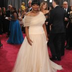 Octavia Spencer also went to the Hickeys sale for white and metallic fabrics.