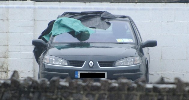 06/03/2013. Meath shooting. A car at the scene of