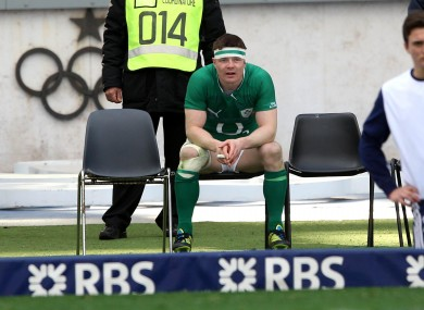 Ireland's Brian O'Driscoll during his sin binning.