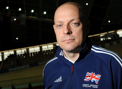British Cycling's performance manager Dave Brailsford.