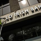 Anglo Irish Bank sign voted one of Ireland's important objects. (Photo Brian O' Leary/Photocall)