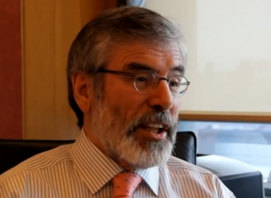 Gerry Adams speaking to TheJournal.ie