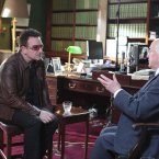 President Higgins and Bono, having the chats.