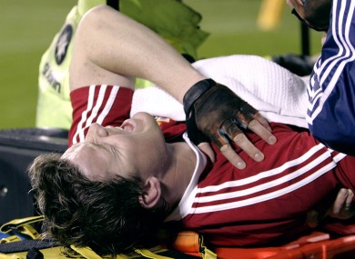 O'Driscoll lies injured back in 2005.