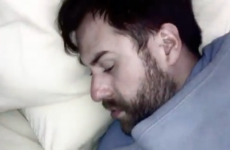 VIDEO: Man reacts to being slapped awake by his wife