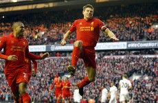 Gerrard blasts in late penalty as Liverpool stun Spurs at Anfield