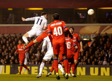 Gareth Bale scores the opener at White Hart Lane.