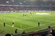Leo Messi and Danny Alves warm up for PSG game with unbelievable game of keepy-uppy