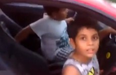 Man arrested after uploading video of his 9-year-old son driving a Ferrari
