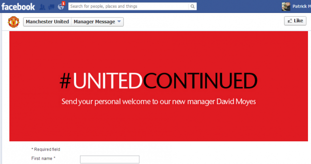 United jump Facebook gun, name David Moyes coach 15 minutes too soon
