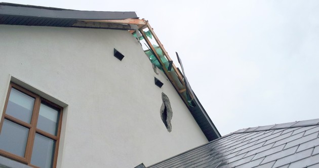 This is what a bolt of lightning did to a house in Tipperary today…