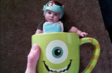 How to combine a baby and a mug for maximum cuteness