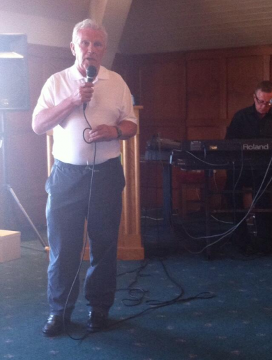 John Giles sings 'Don't Cry For Me Argentina' at Hollystown Golf Club