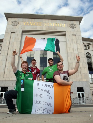 1 year on, Ireland fans' tribute to 'boob licker' Eamon Keegan in New York
